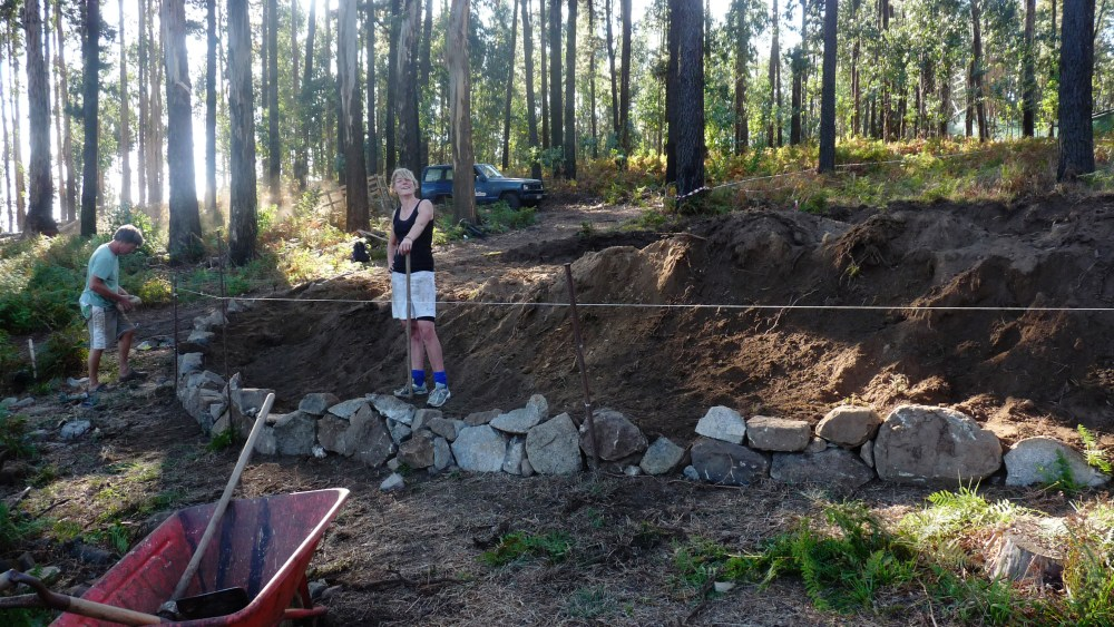 Building a dry stone wall (1/2)