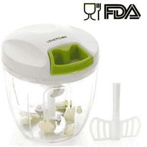 Manuel Chopper Food-LOVKITCHEN Vegetal de mano compacto y potente