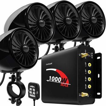 10. GoHawk TJ4-Q 1000W Amplificador de 4 canales