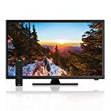"""AXESS TVD1805-22 HDTV LED de 22 """"y 1080p, con tecnología de cable de alimentación de automóvil de 12V, entradas VGA / HDMI / USB, reproductor de DVD incorporado, control remoto con funciones completas"""
