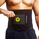 ActiveGear vendaje de cintura activo, envoltura de sudor corporal para soporte lumbar en el estómago y la espalda