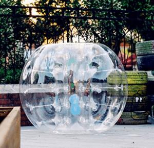 Popsport 4FT / 5FT Balón de fútbol inflable Balón ZFT Balón de fútbol 0.8 mm Balón de fútbol Bola de hámster humano Bola para 5 adultos / adultos