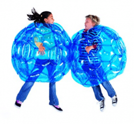 Juego de 2 HearthSong Azul BBOP Buddy Bumper Ball Inflable Blow Up Bodble Body Bubble Soccer Suit Durable Resistente