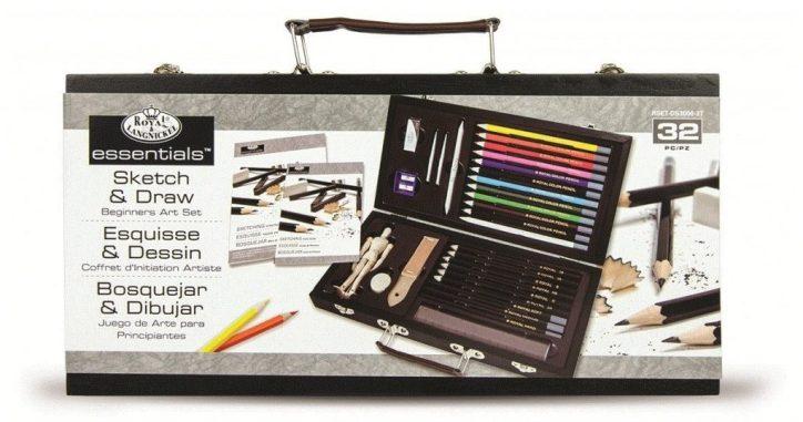 Royal Brush RSET-DS3000 Conjunto de bocetos y bocetos Royal y Langnickel para principiantes
