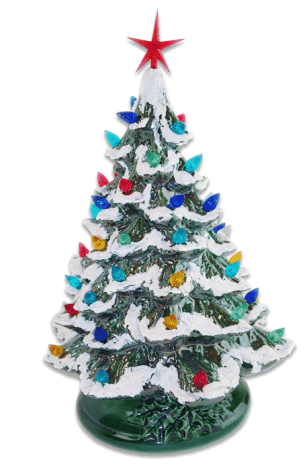 "Starry Night 15 ""Árbol de Navidad de cerámica iluminado"