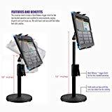Soporte para tableta ChargerCity 360 ° con soporte giratorio en soporte giratorio con ajuste rápido de la altura telescópica de los ojos para Apple iPad Pro Mini tableta de aire Samsung Galaxy Google Surface Book 7-12