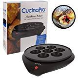Takoyaki Pan and Ebelskiver Maker: panadero eléctrico antiadherente para bolas de pulpo, Aebleskivers, agujeros para rosquillas y piruletas para pasteles