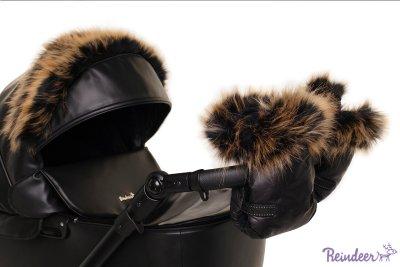Комплект (опушка на капюшон+муфты) Reindeer Winter Kit (Черный)