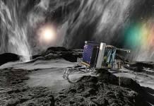 Rosetta and Philae Comet Tchouri