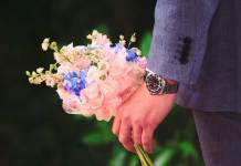 man flowers