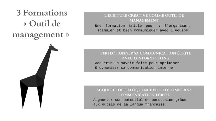 Outil de management - 3 formations