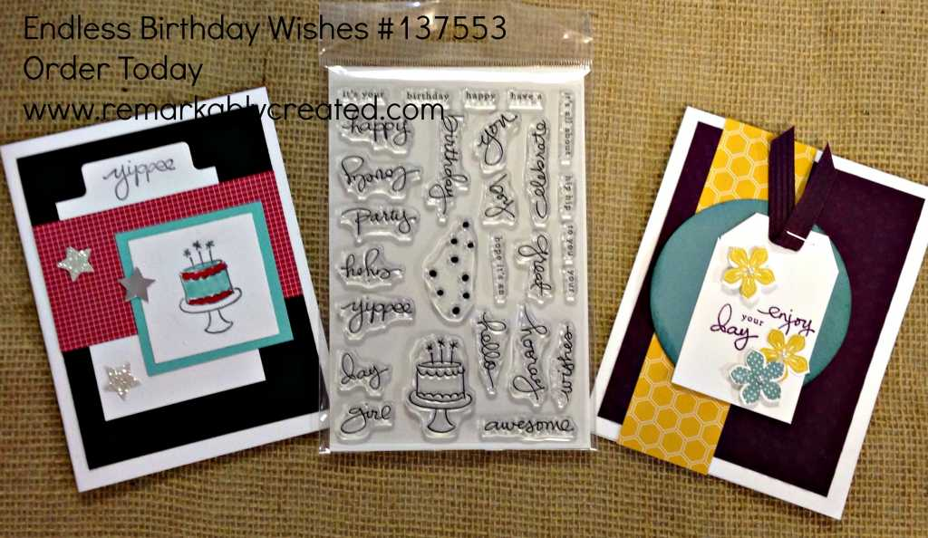 Stampin UP Endless Wishes Birthday Photopolymer Stamp