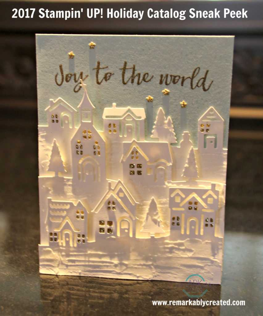 2017 Stampin UP Holiday Catalog Sneak Peek RemARKable