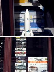 Für Sie und Ihn: Miniaturrakete, Modell vom Weltkriegsbomber.