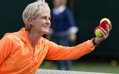 Judy Murray tennis net