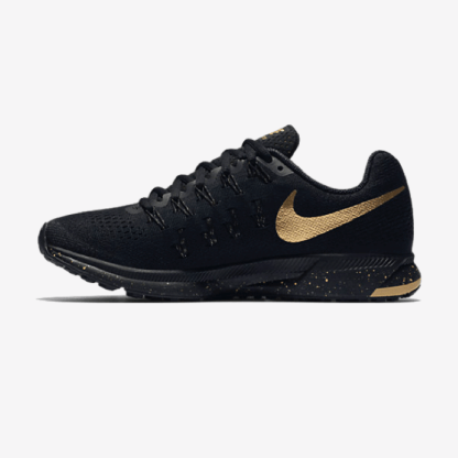 0db0c5a7f32c Nike Air Zoom Pegasus 33 Women s Running Shoe  Black and Gold  - Rematch