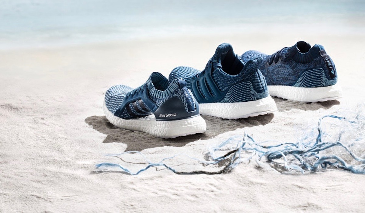 adidas X Parley Collection - shoes on beach