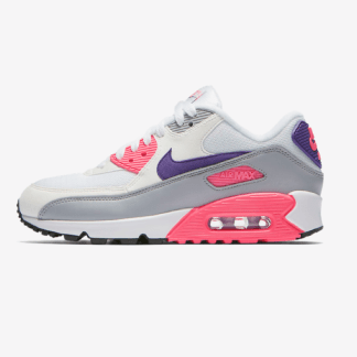 Nike Air Max 90 - White, Purple, Wolf Grey & Laser Pink