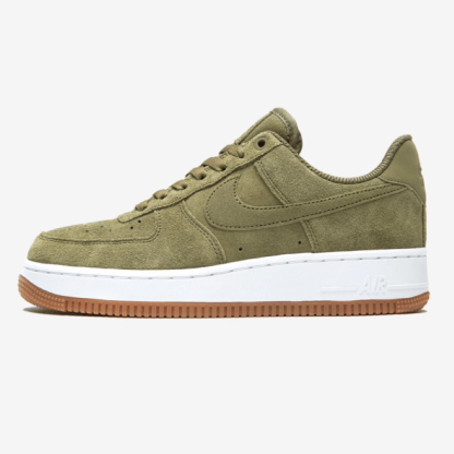 Nike Air Force 1 07 Suede Trainers - Khaki 1