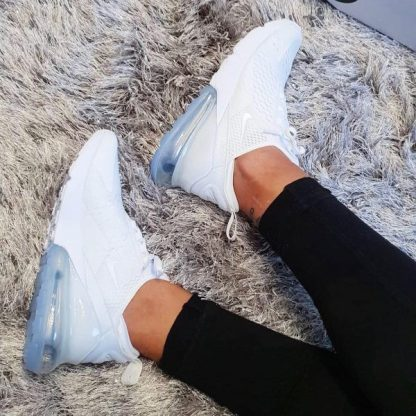 Nike Air Max 270 Triple White Shoes - Cool Style
