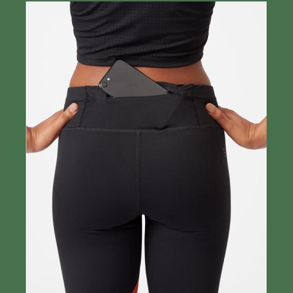Sweaty Betty Zero Gravity Run Leggings - Black White Orange - Pocket