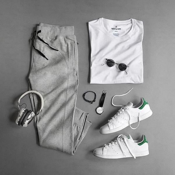 adidas Stan Smith Shoes Green - Outfit