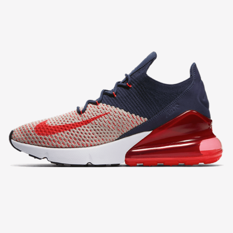 8bfa5f3497 Nike Air Max 270 Flyknit - Blue White Red - Rematch