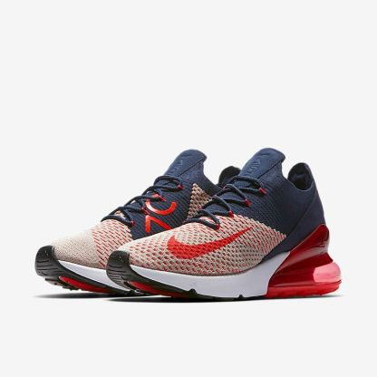 Nike Air Max 270 Flyknit - Blue White Red - pair