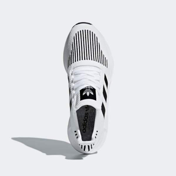 adidas Originals Swift Run Shoes - White Black - Above