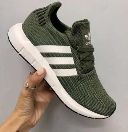 adidas Originals Swift Run - Green - AQ0866 7