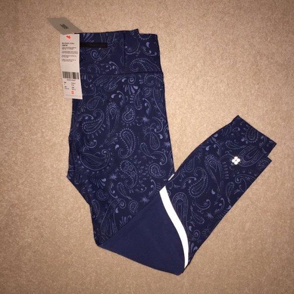 Sweaty Betty Zero Gravity 7:8 Run Leggings - Blue Spring Paisley product