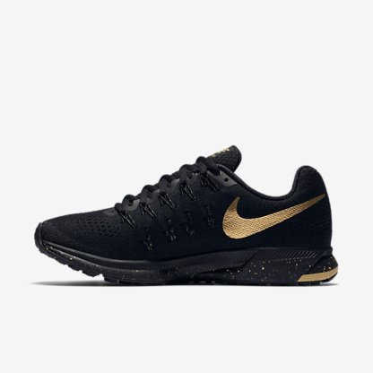 Nike Air Zoom Pegasus 33 Women's Running Shoe 'Black and Gold' 3