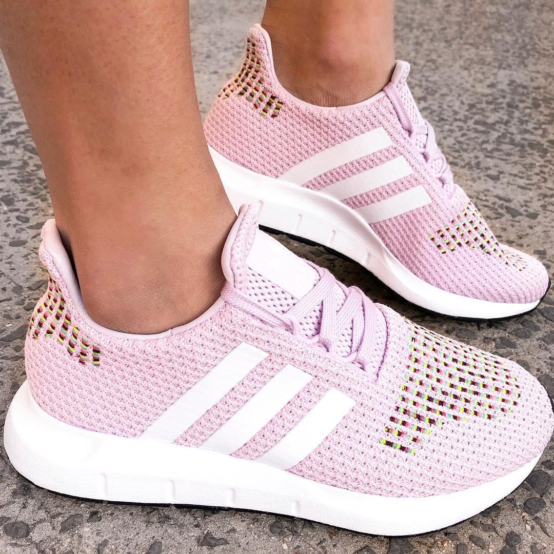 adidas originals swift run sneakers in pink multi
