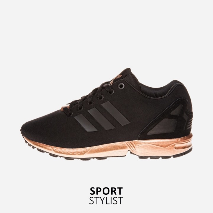 super popular b1311 3e920 adidas ZX Flux Trainers – Black and Copper (Gold) - Rematch