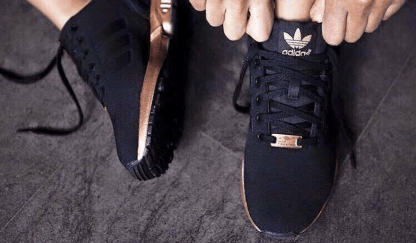 adidas ZX Flux Trainers – Black and Copper (Gold) 2