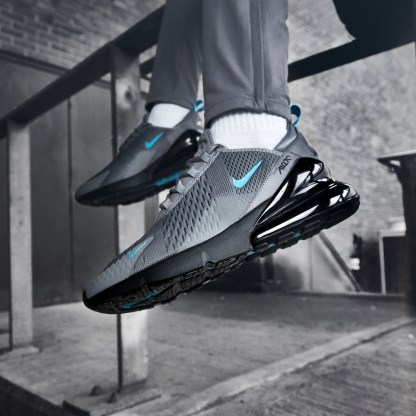 Nike Air Max 270 - Grey Black Blue - style sneakers