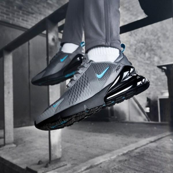 Nike Air Max 270 - Grey Black Blue - style sneakers