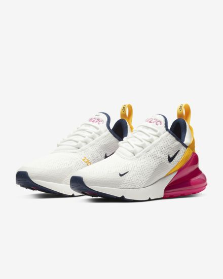 Nike Air Max 270 Premium - White Blue Yellow Fuchsia - Shoes