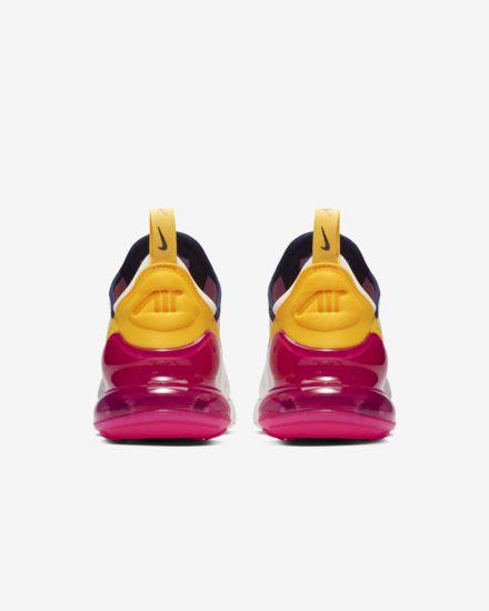Nike Air Max 270 Premium - White Blue Yellow Fuchsia - Heels
