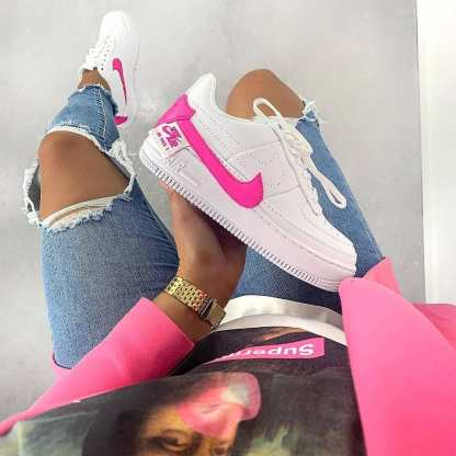 Nike Air Force 1 Jester XX Shoe - Pink White - style details