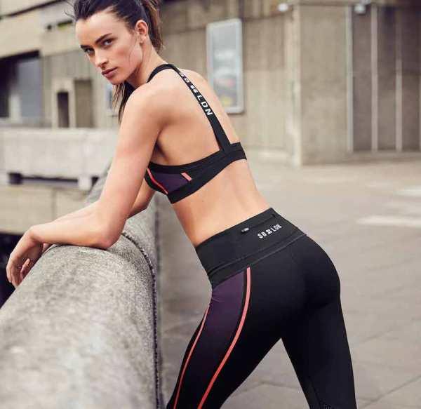 Sweaty Betty - Upbeat Padded Workout Bra - Size Small - Black - Back - London