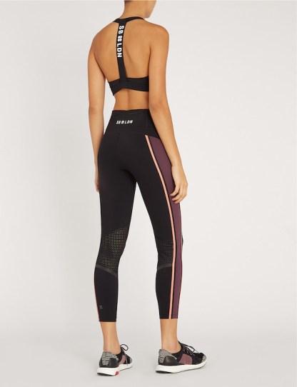 Sweaty Betty - Upbeat Padded Workout Bra - Size Small - Black - Back