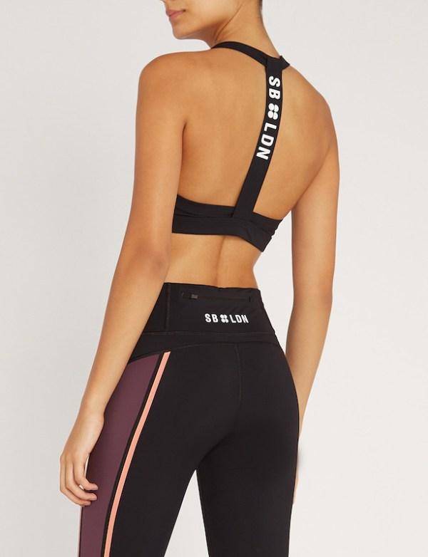 Sweaty Betty - Upbeat Padded Workout Bra - Size Small - Black - detail