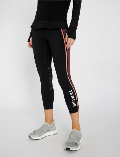 Sweaty Betty - Zero Gravity 7:8 Run Leggings - Size Small - logo