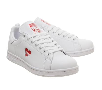 adidas Stan Smith Red Heart Valentine's Day Shoes - both]