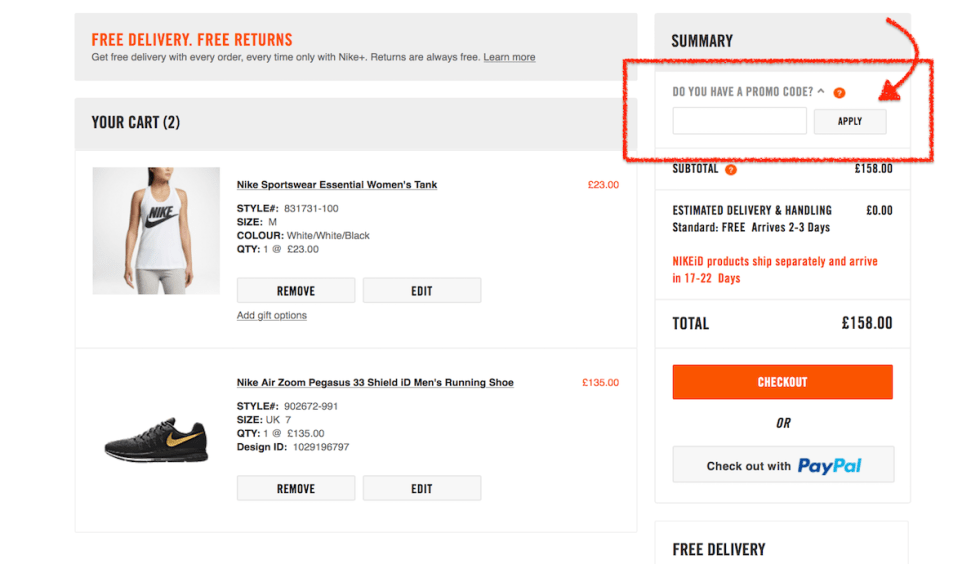 low priced 839e4 971cc how to use a Nike voucher code