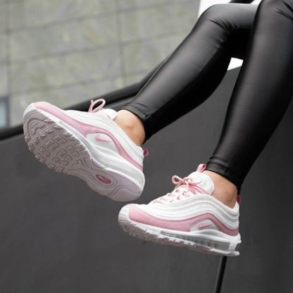 ce0f739ce4 Nike Air Max 97 Essential Shoes - white pink - on feet