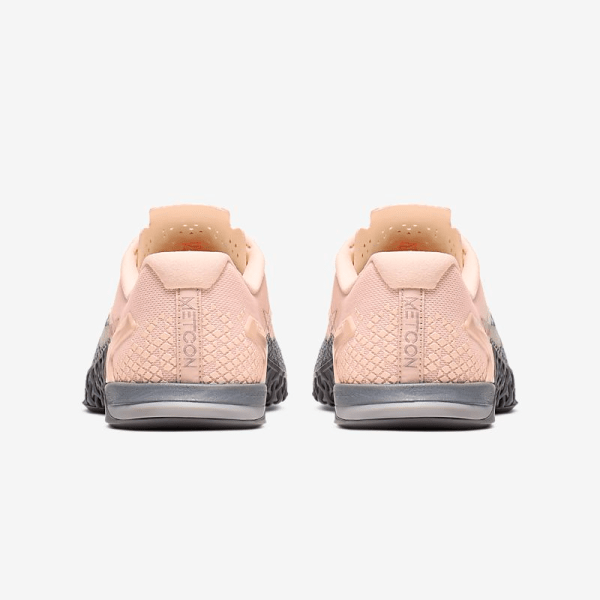 Nike Metcon 4 XD Metallic Shoes - Grey Pink - heels
