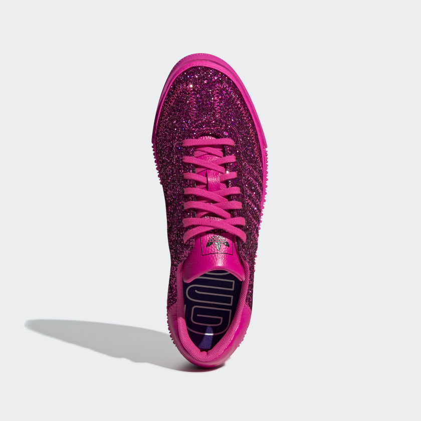 pink glitter adidas shoes