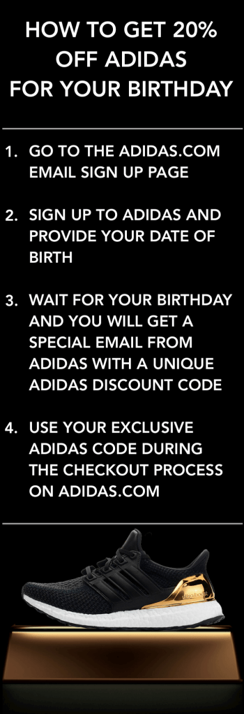 How to get 20% off adidas for your birthday guide tips